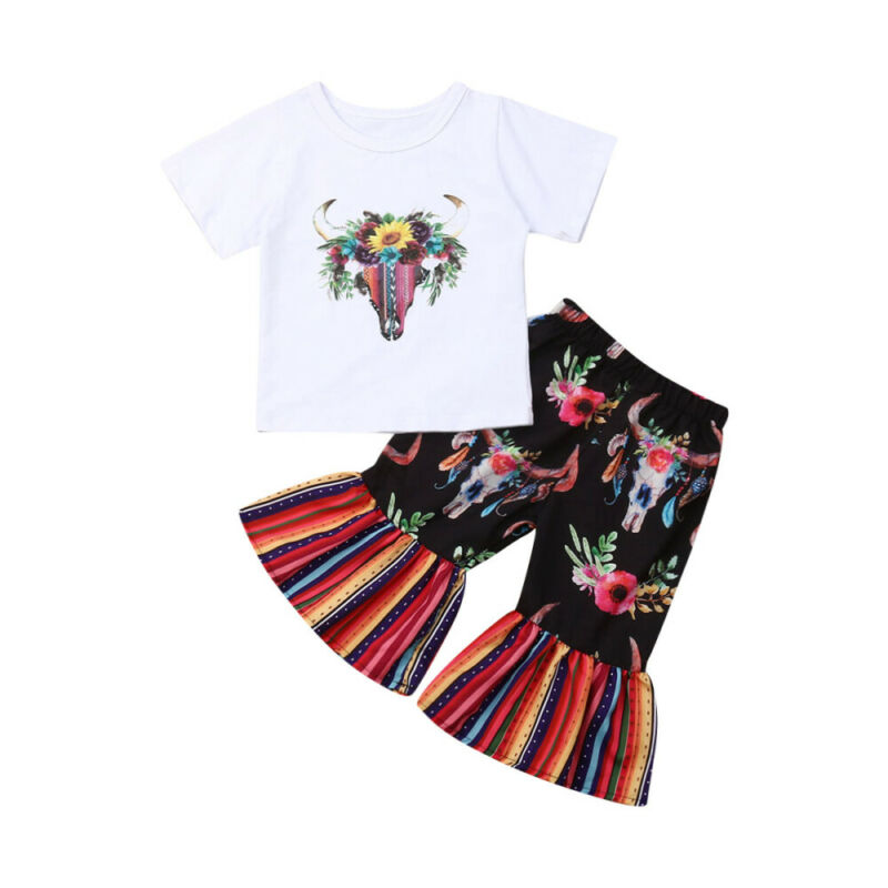 2PCS Fashion Baby Girls Outfit Set Toddler Flower T-shirt Tops+ Flower Leggings Pants Set Summer Casual High quality - Buy Babby
