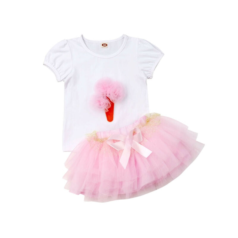 2pcs Set One Year Baby Girl Clothing Sets Kids Cotton Bodysuit+Tutu Skirt 12 Months Clothes 1st Birthday Costume Set 1-6 Years - Buy Babby