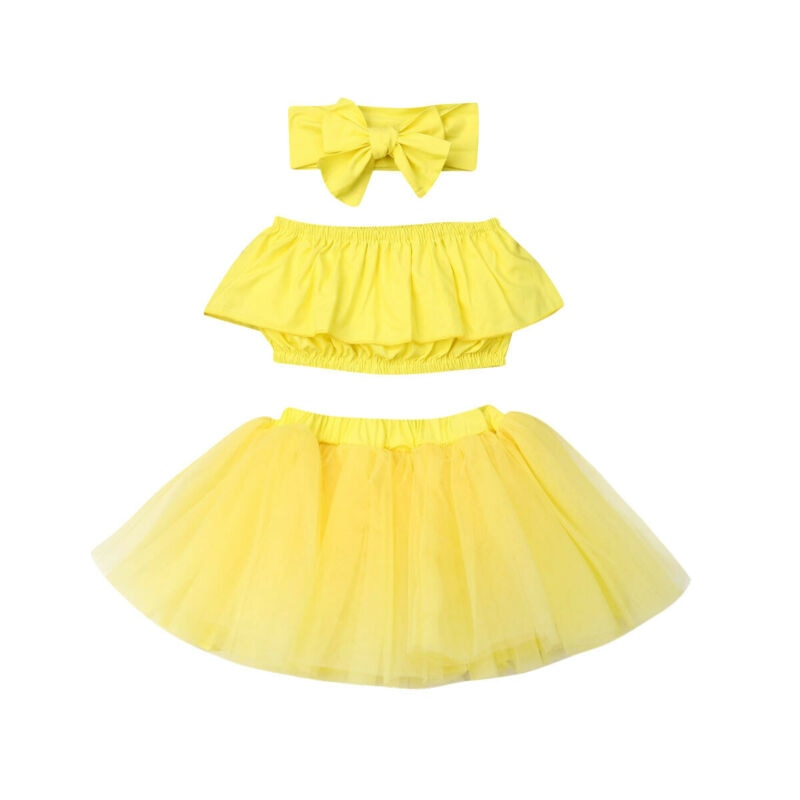 3PCS Baby Girl Outfits Set Lace-Crop-Top Short Lace Skirt Baby-Girls Off-Shoulder Toddler Kids Fashion Sweet Cute Clothes 0-24M - Buy Babby
