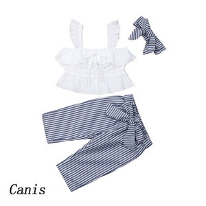 6M-5T Toddler Kids Baby Girls Clothes set Summer Off Shoulder Lace Crop Top and long Pants Cute lovely Sweet Streetwear outfits - Buy Babby