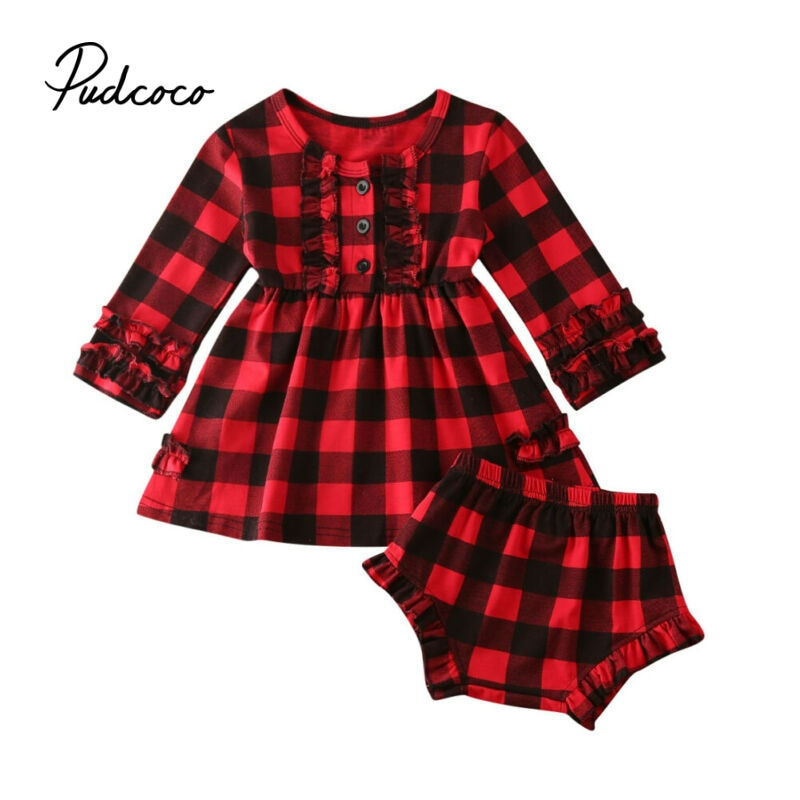 Baby Christmas Clothes Xmas Costume Baby Set Christmas Girl Clothes Newborn Xmas Infant Tutu Party Dress+ Shorts Outfit 0-2T Kid - Buy Babby