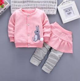 Baby Girls Clothing Sets Cartoon Rabbit Print Spring Coat Pants Tracksuit Baby Sets - Buy Babby