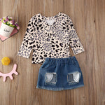 Children Clothing 2020 Autumn Baby Toddler Girls Clothes Set T-shirt+Denim Shorts 2pcs Outfit Kids Suit For Girl Clothing Sets - Buy Babby