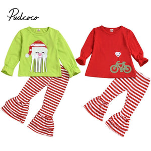 Christmas Clothes Girls Christmas Set Pullovers Harem Striped Pants For Spring Autumn Female Sweatshirt 1 2 3 4 5 6 Years Old - Buy Babby