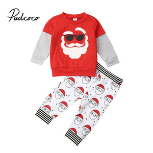 Christmas Santa Baby Girl Boy Clothes Long Sleeve T-Shirt Long Pants Toddler boy girl Clothing For New Year's Costumes Suit - Buy Babby