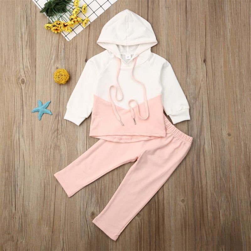 Cute Baby Girl Clothes Set Toddler Kid Baby Girls Hooded Sweatshirt Long Sleeve Top Pants Leggings Outfit Autumn Clothing - Buy Babby