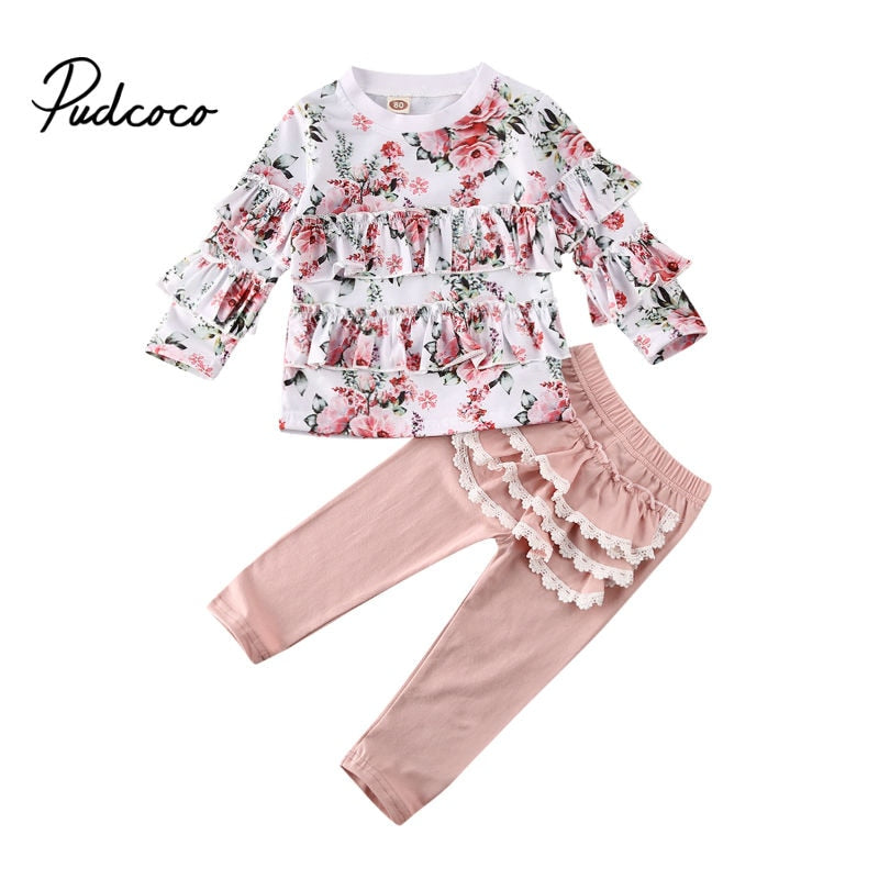 Girls Clothing Set 2020 Winter Girls Clothes Set T-shirt+pants 2pcs Kids Clothes Girl Sport Suit Children Clothes 1-6Y Tracksuit - Buy Babby