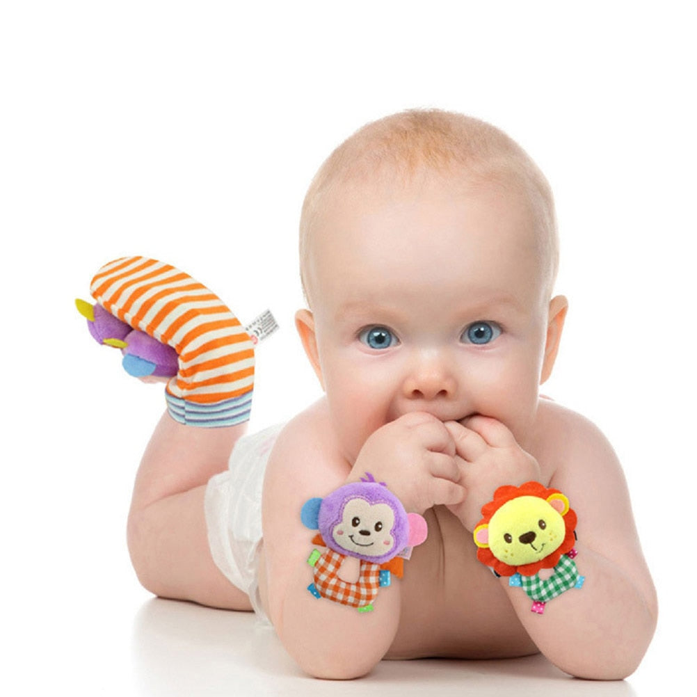 Baby Toys Soft Wrists Rattles Ankle Leg Hand Arm Bracelet Activity Rattle Baby Shower - Buy Babby