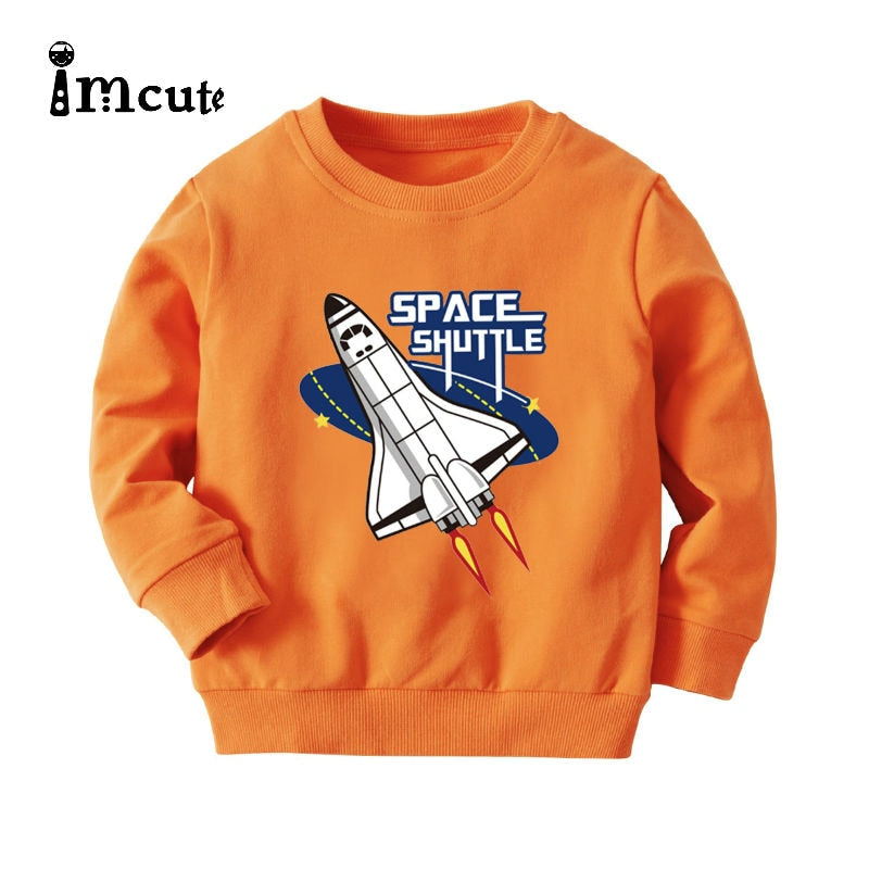 Imcute 2020 Autumn Girls Sweatshirt Long Sleeve Kids Space Cartoon Tops Children Pullover Boys Hoodies Winter Clothing - Buy Babby