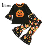 Imcute 2020 Newest Toddler Baby Girl Clothes Halloween Pumpkin Print Long Sleeve T-Shirt Tops Harem Pants 2Pcs Outfits Set - Buy Babby