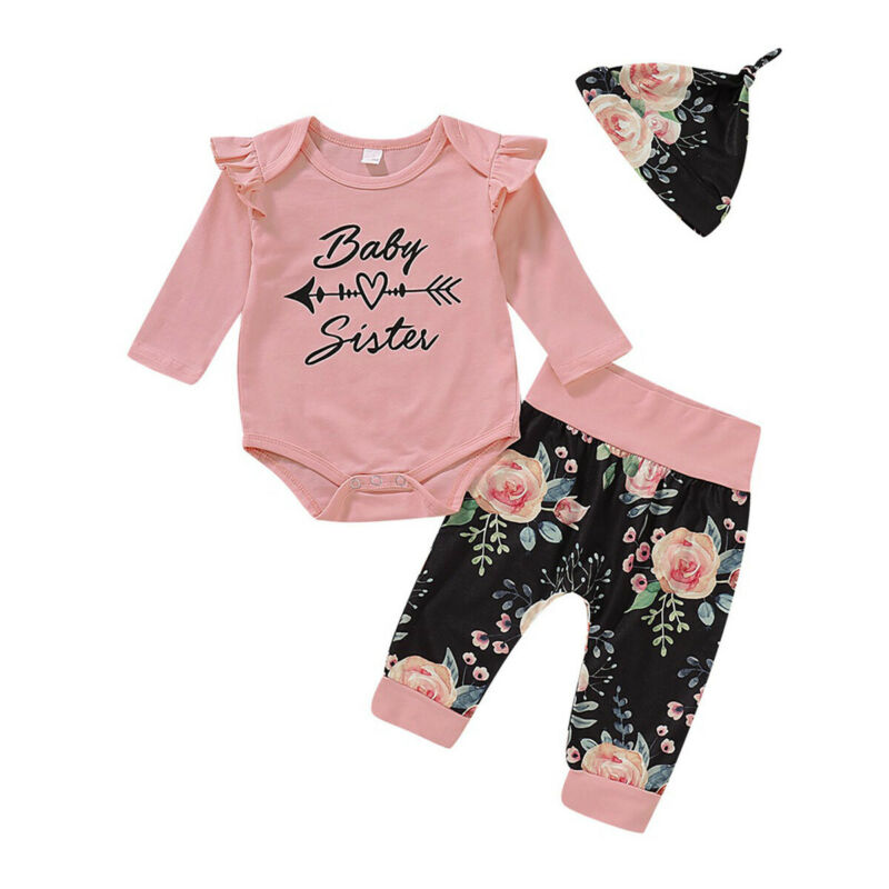 New Fashion Kids Infant Baby Girl Boy Romper Short Sleeve O-Neck Bodysuit + Long Pants Letter 4PCS Clothes Set Outfits - Buy Babby