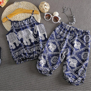 Newborn Baby Girls India Sleeveless Strap Tops T shirt+Pants Briefs 2pcs Outfits Summer Kids Girls Cotton Clothes 2-7 Years - Buy Babby
