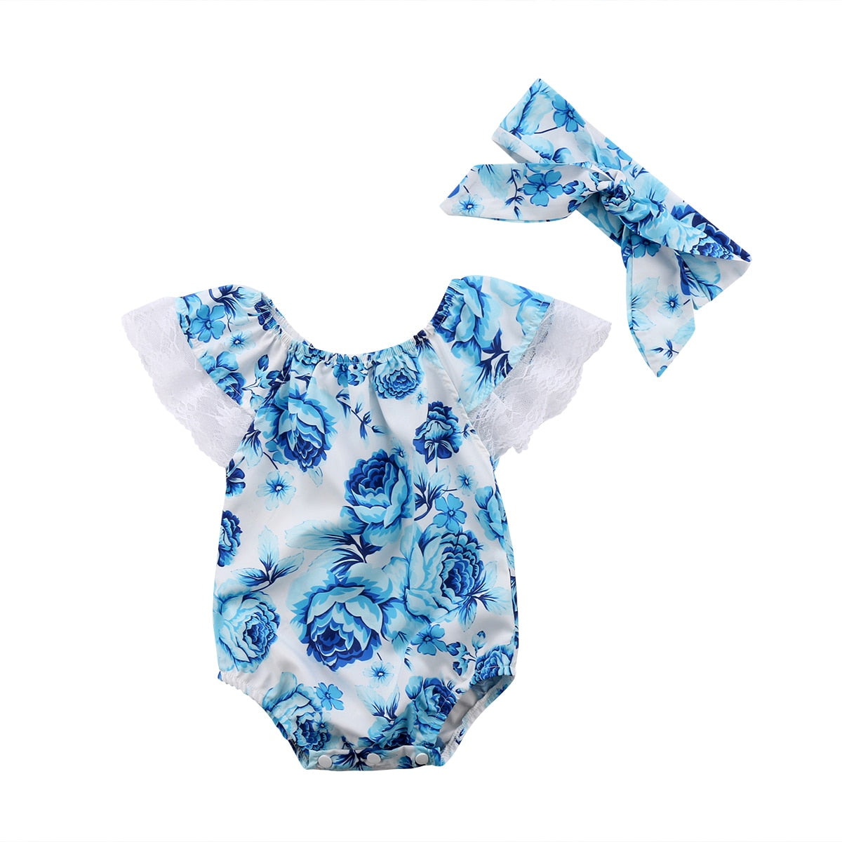 Newborn Baby Girls Lace Floral Romper Jumpsuit Outfits Sunsuit Summer Clothes Baby Clothing - Buy Babby