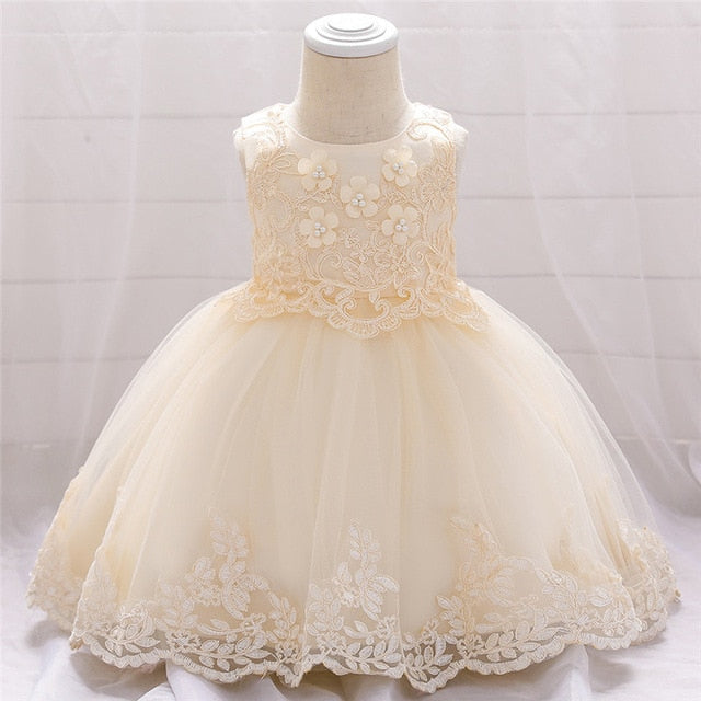 Newborn Baptism Dress For Baby Girls First Year Birthday Party Dress Christening Vestidos - Buy Babby