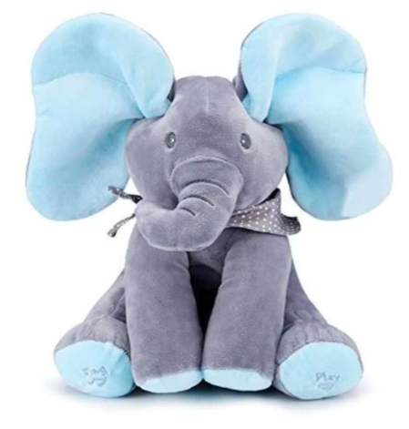 Peek-a-boo Elephant Baby Plush Toy Talking Singing Stuffed Music Cute Doll - Buy Babby