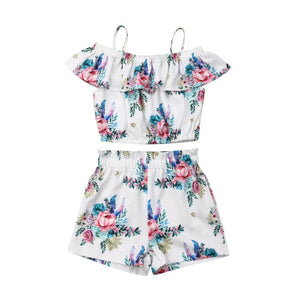Summer Style Baby Swing Top Baby Girls Set Infant Ruffle Outfits Bloomer Newborn Girl Clothes Children Clothing 1-6 Years - Buy Babby