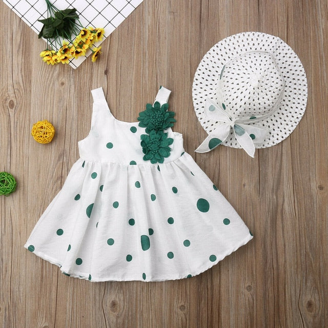 USA Flower Girl Princess Summer Dress Newborn Baby Party Cotton Dot Tutu Dresses - Buy Babby