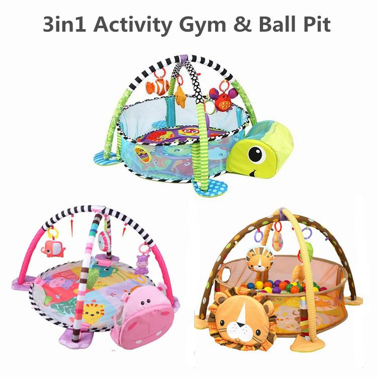 Baby 3 IN 1 Multifunctional Baby Activity Gym & Ball Pit Turtle - Buy Babby