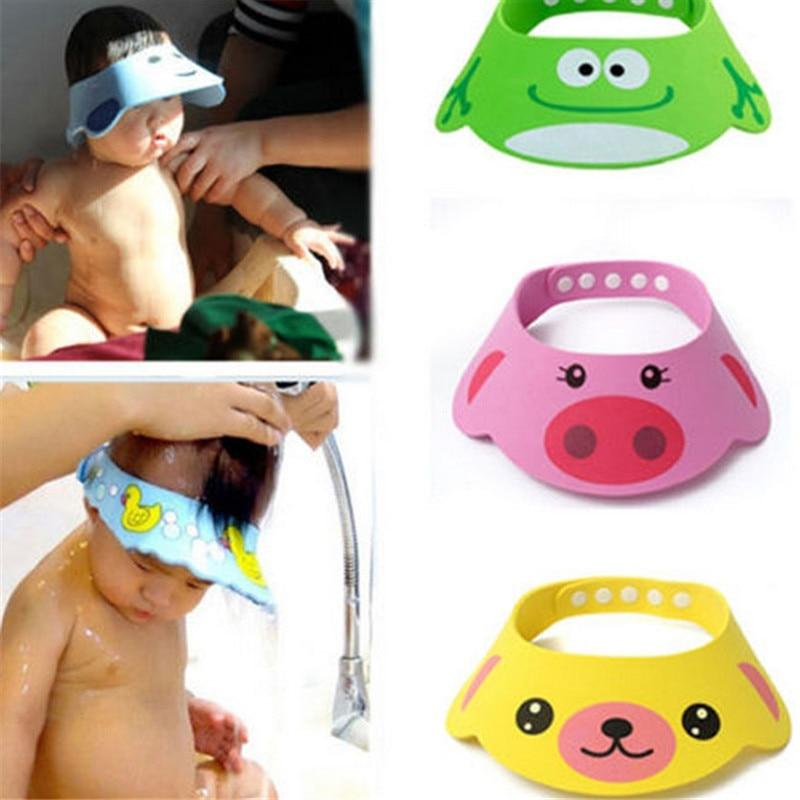 Baby Bath Hat Adjustable Toddler Kids Shampoo Bath Shower Cap Wash Hair Shield Direct Visor Caps for Children Baby Care - Buy Babby