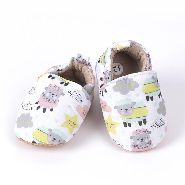 Baby Candy Colors Printed Canvas Shoes First Walkers Casual Sneakers Prewalkers - Buy Babby