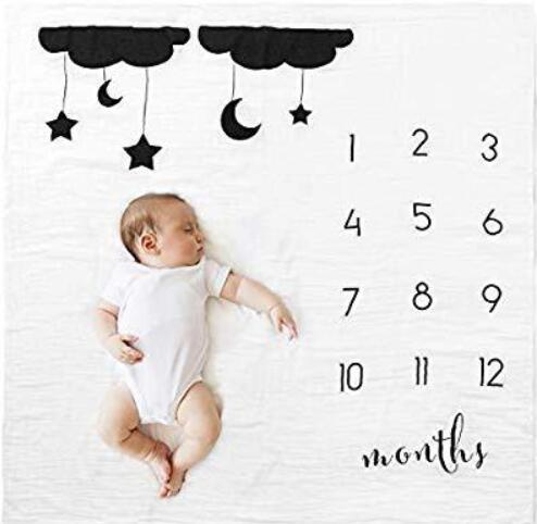 Baby Monthly Milestone Blanket Growth Chart Picture Blanket with Month Marker - Buy Babby