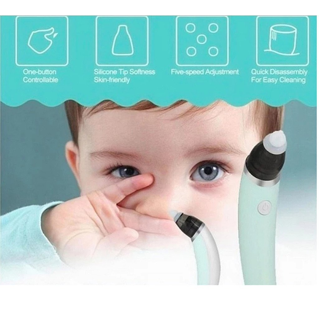 Baby Nasal Aspirator Toddler Safe Nose Suction and Gently Clears Infant's Mucus. Battery Operated with 3 Sizes of Silicone Tips and Manual Snot Booger Sucker and Remover for Newborns - Buy Babby