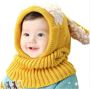 Baby Winter Knitted Hat Scarf Earflap Hood Cap Beanie - Buy Babby