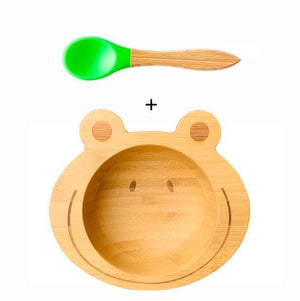 Bamboo Feeding Matching Spoon Removable Training Baby Tableware Matching Spoon Set - Buy Babby