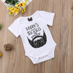 Beard Onesie Hipster Funny Baby Fathers Day Gift Daddy's Little Beard Puller - Buy Babby