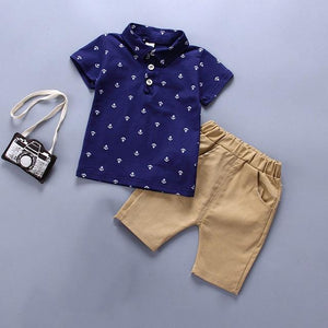Boy Clothing 2pcs set Baby Boy Clothes Baby Boy POLO T-shirt Pant - Buy Babby