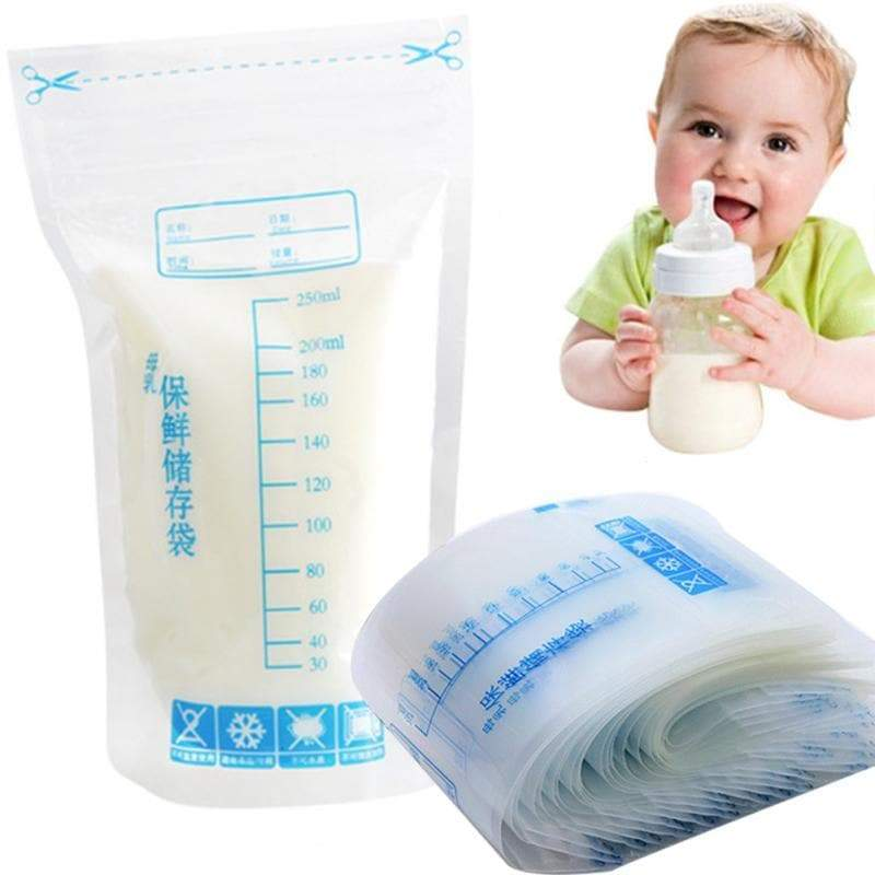 Breastmilk Storage Bags Breastfeeding Freezer Leak Proof Storage Container Bags For Breast Milk Comes Pre Sterilized & Bpa Free With Accurate Measurements - Buy Babby