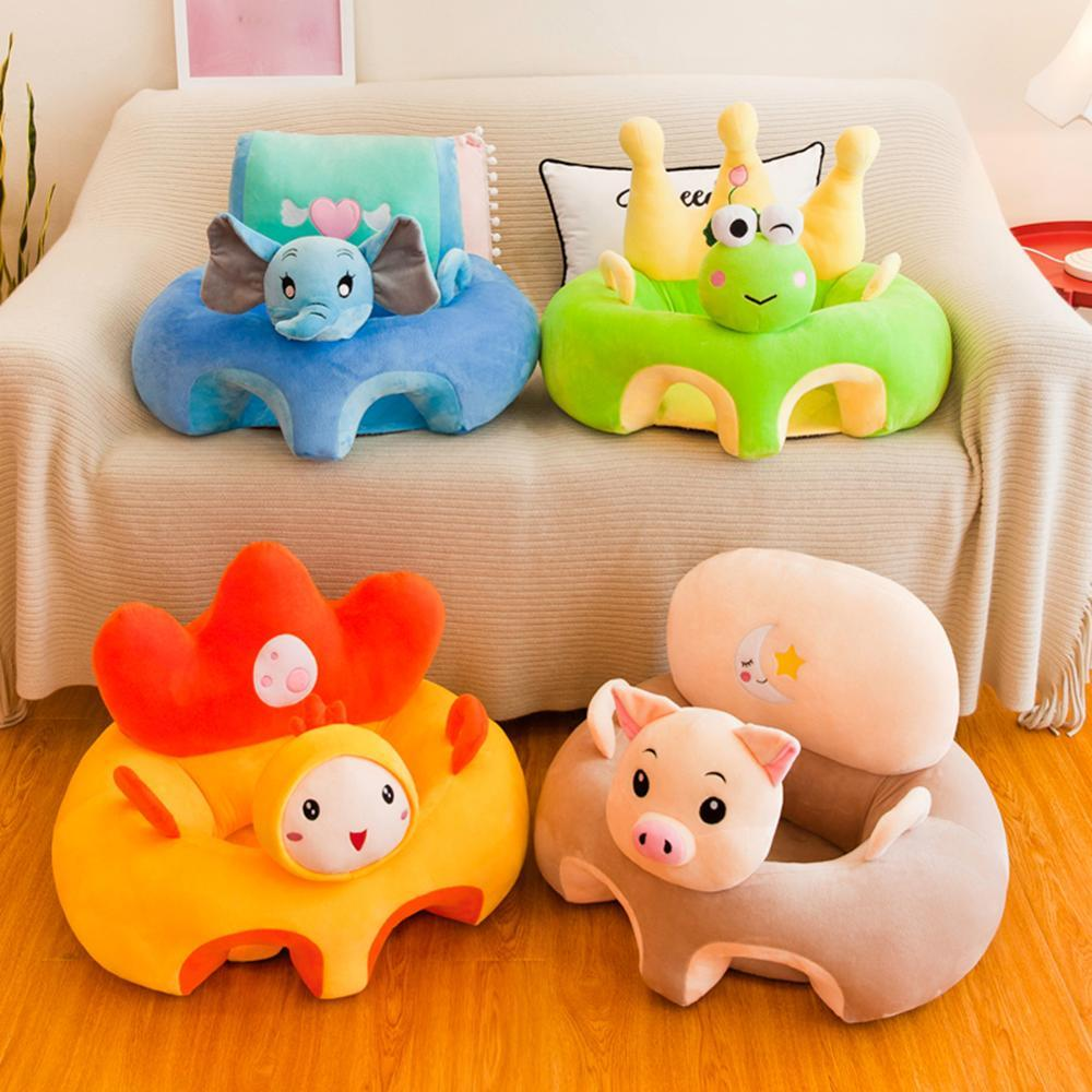 Cartoon Plush Baby Sofa Chair Animal Pattern Baby Infant Support Seat Toys - Buy Babby