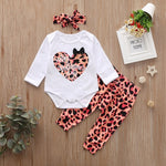 children clothes Baby Kids Girl Sister Match Clothes Bodysuits Valentine's Day leopard Skirt Pants Suit Outfits Matching Outfits - Buy Babby