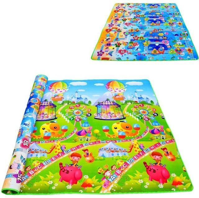 Double-Sided Waterproof Baby Crawling Foam Mat Drawing Alphabet Figures Animals Pattern - Buy Babby