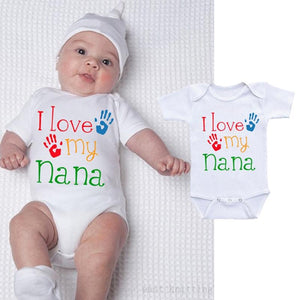 I Love My Nana Best Shower Gift Cute Fun Message Funny Baby Bodysuit Onesie Infant - Buy Babby