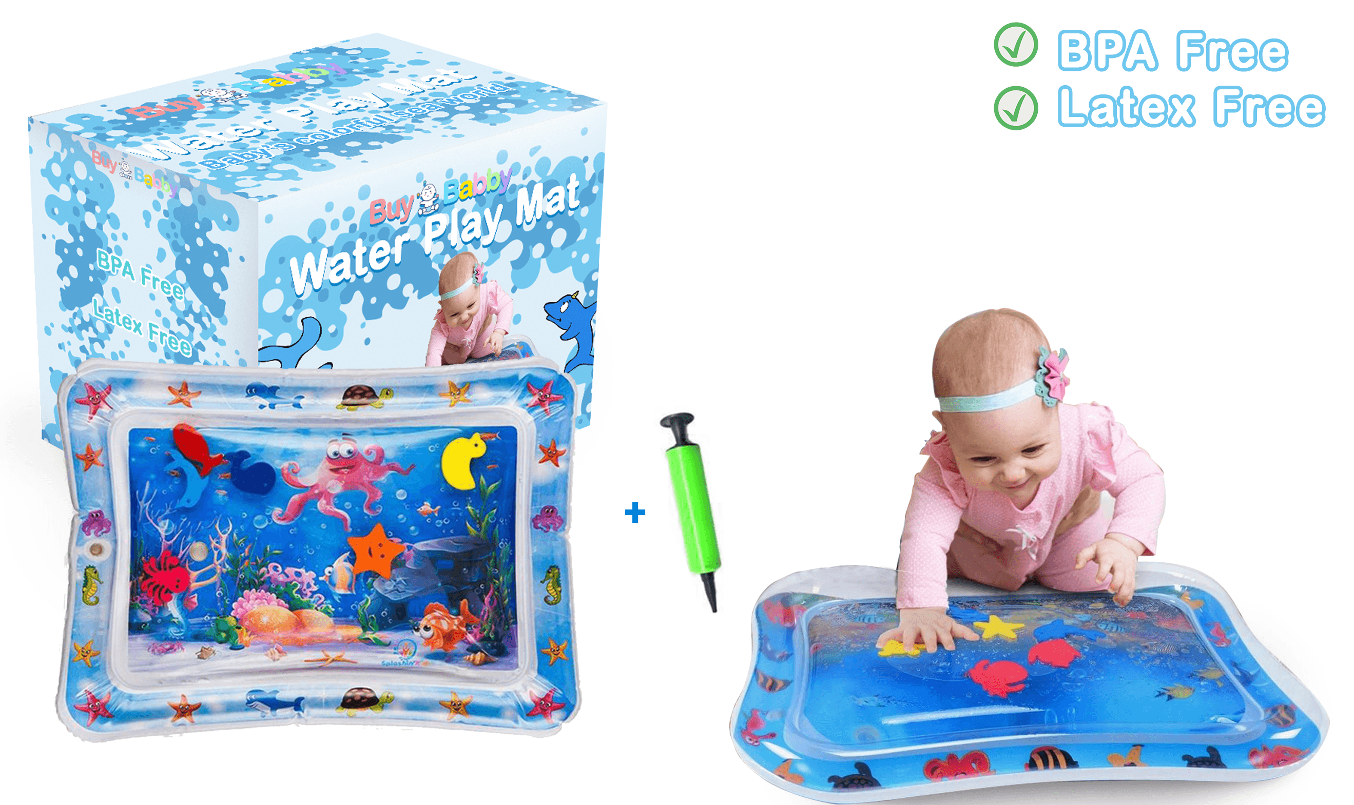 Tummy Time Water mat Infants and Toddlers Growth Brain Development BPA-Free Baby Toys - Buy Babby