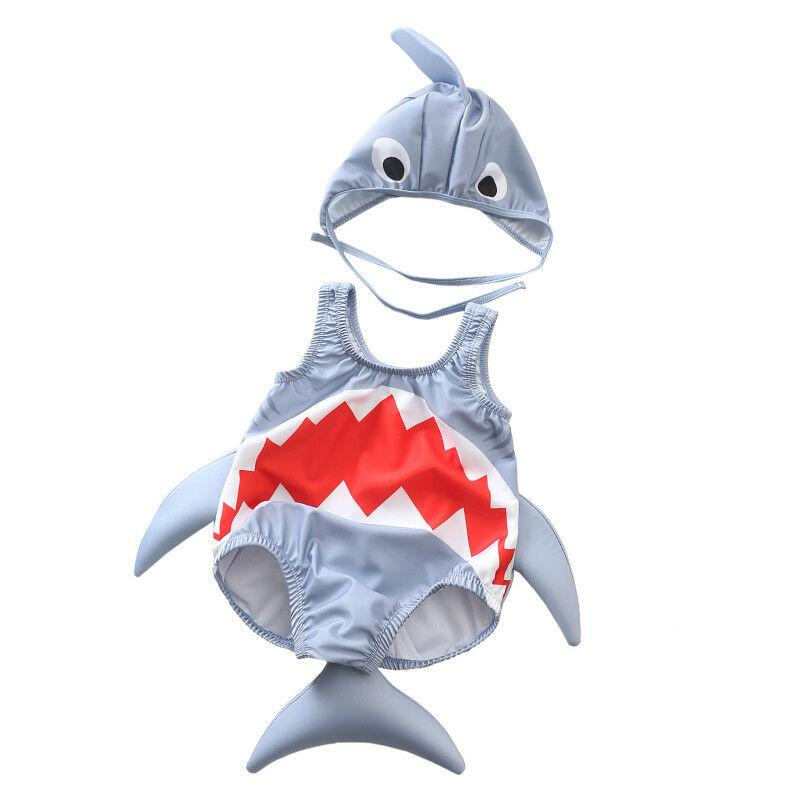 Kids Baby Boys Girls Shark Swimsuit Swimwear Rash Guard Costume Beachwear - Buy Babby