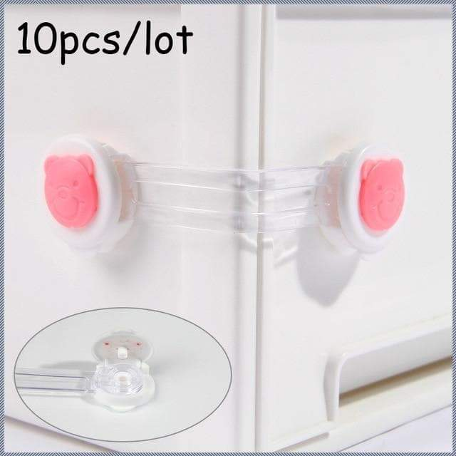 Multifunctional Children'S Two-Key Baby Anti-Pinch Safety Adjustable Drawer Lock Cabinet - Buy Babby