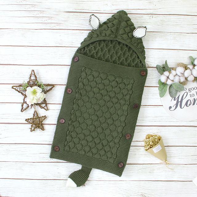 Newborn Baby Sleeping Bags Envelopes for Autumn Knitted Swaddle Sleeping Bag Sack Stroller Wrap - Buy Babby