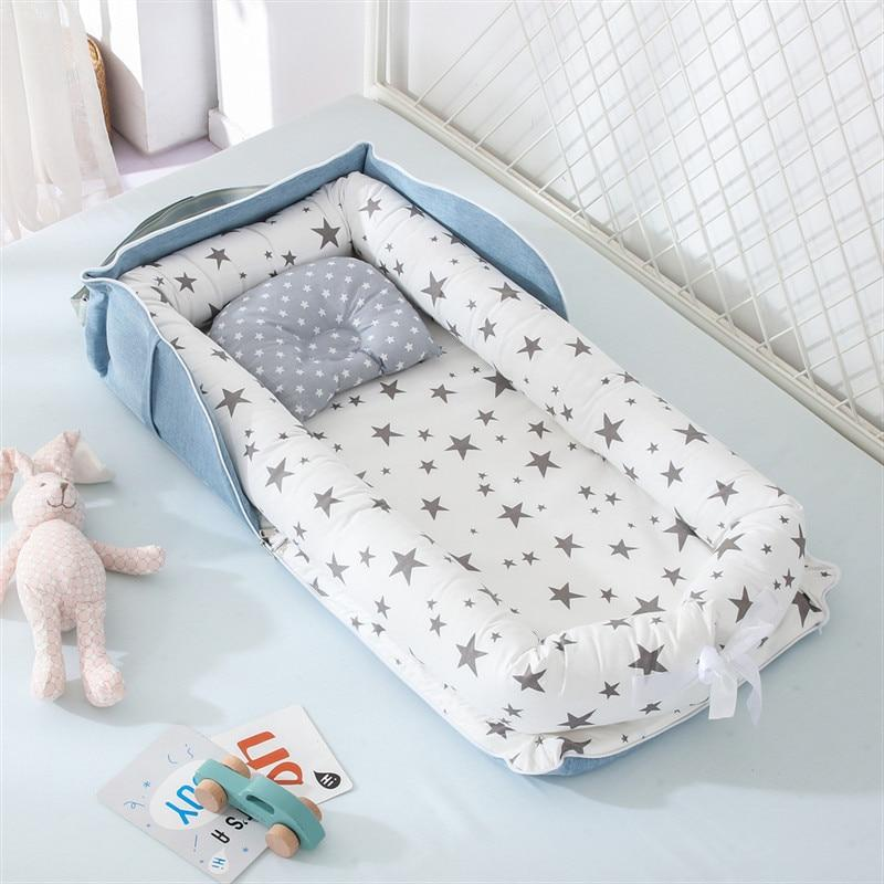 Portable Baby Nest Bed for Boys Girls Travel Bed Infant Cotton Cradle Crib Baby Bassinet Newborn Bed - Buy Babby