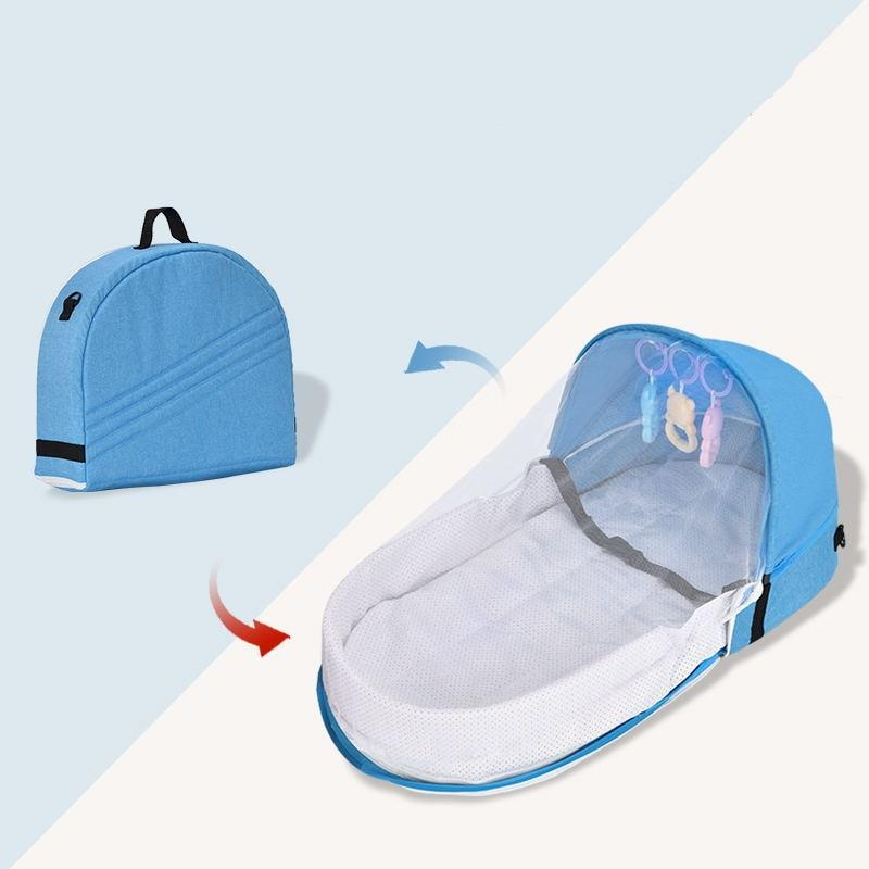 Portable Crib Mom Nursing Bag Travel Mosquito Net Baby Bed Sun Protection Foldable Breathable Infant Sleeping Basket - Buy Babby