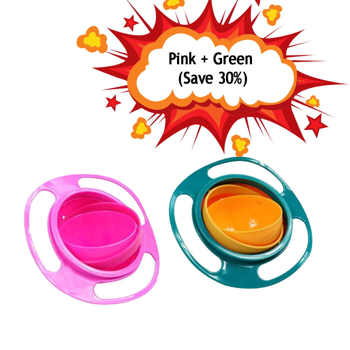Kids Rotatable Spilling Resistant Bowl Dishes Baby Universal 360 Degree Feeding Toys - Buy Babby