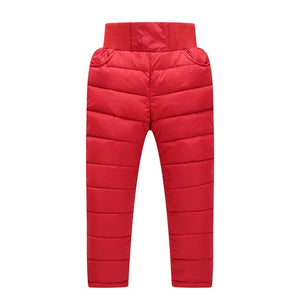 Winter trousers kids Cotton Thick Warm Trousers Waterproof Pants clothes - Buy Babby