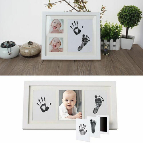Newborn Baby Clean Touch Non-Toxic Ink Pad Handprint & Footprint Photo Frame Kit Unique Baby Shower Gift Set Bonus Premium Keepsake Clay Ornament Kit - Buy Babby