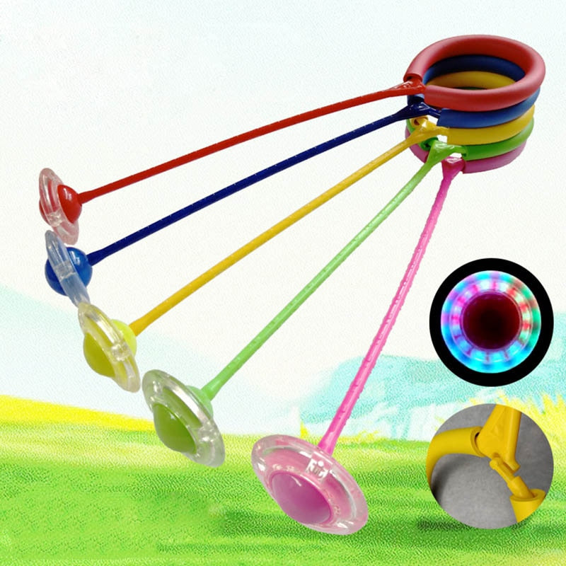 Child Plastic Sport Toys Exquisite Fun LED Toy Flashing Jumping Ring Colorful Ankle Skip Jump - Buy Babby