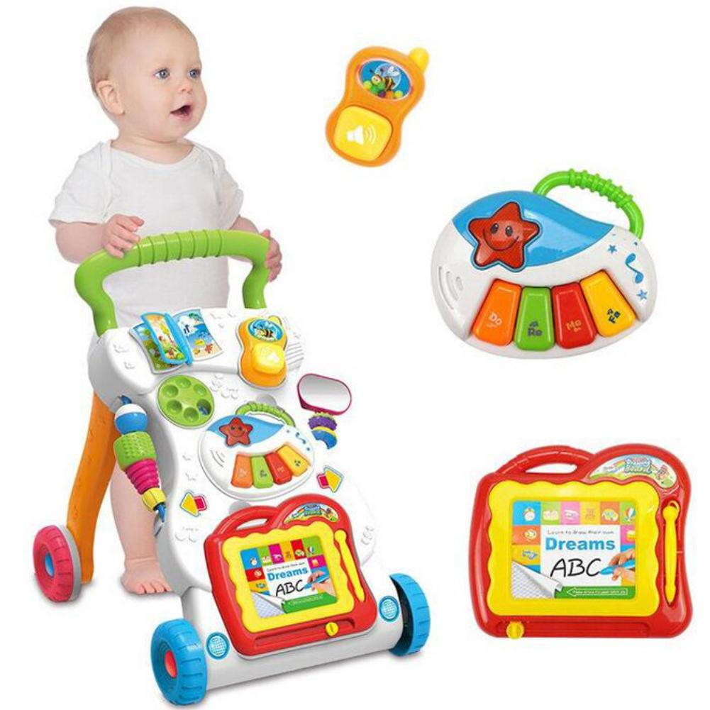 Baby Stroller Music Walkering Toy Anti-rollover Learning Walking Infant Trolleying - Buy Babby