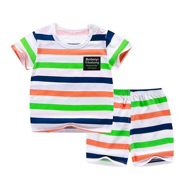 Kids Clothes Toddler Boys Cartoon Outfits Baby Girls Summer Tees - Buy Babby