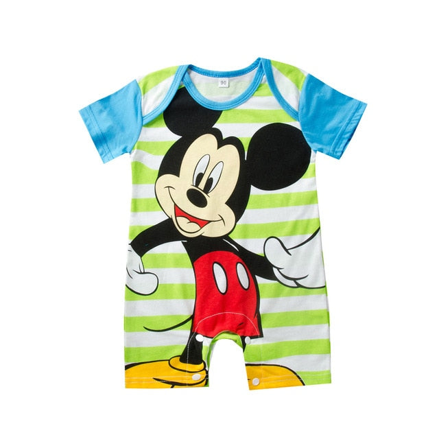 Mickey Baby Rompers Cartoon Baby Boy Clothes Children Jumpsuit Boys Summer Onesie - Buy Babby