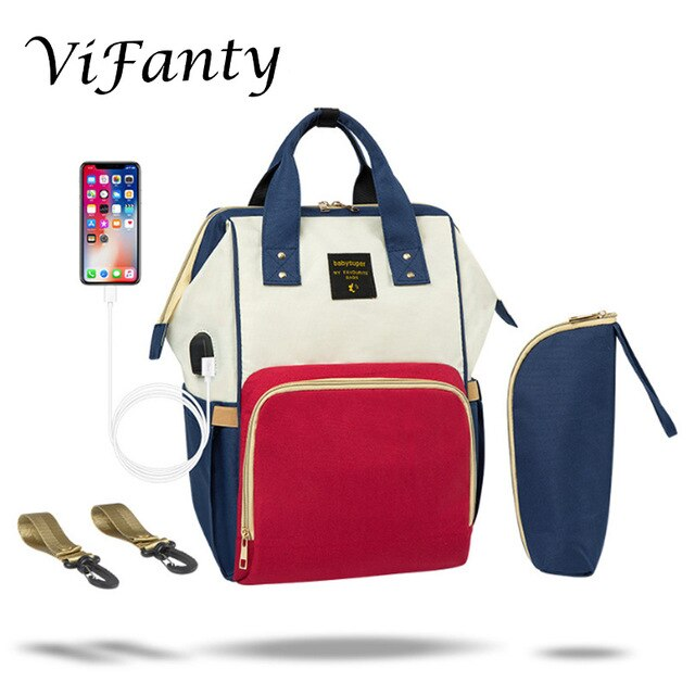 Diaper Bag Backpack Multifunction Travel Baby Bag with USB Charging Port - Buy Babby