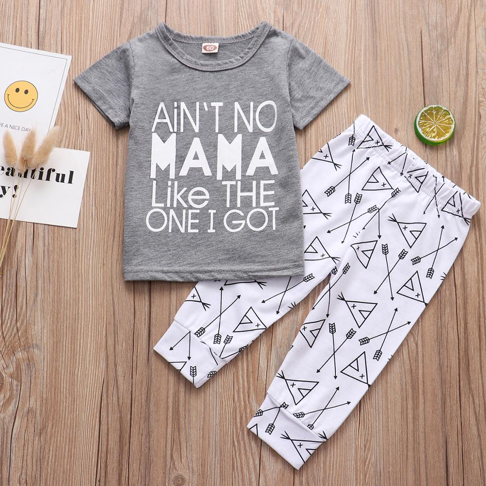 Summer Baby Clothing Set Ain't No Mama Like The One I Got T-Shirt Arrow Pants - Buy Babby